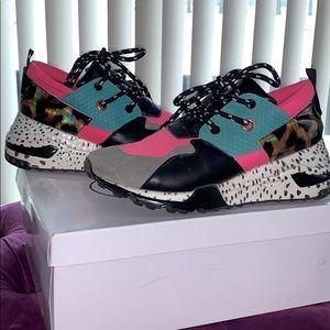 Multi-Color and Cheetah Print Sneakers